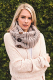 Three Button Infinity Scarf