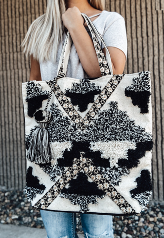 Black & White Boho Bag