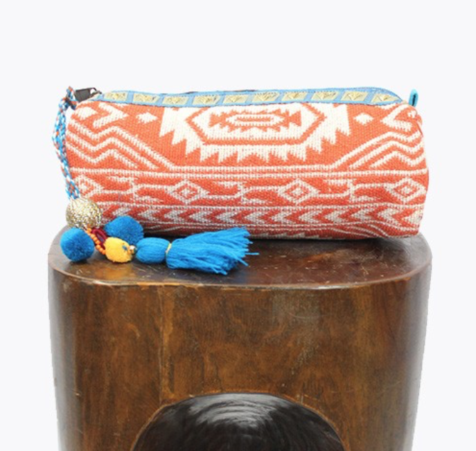 Tribal Inspired Pencil Case/Makeup Bag