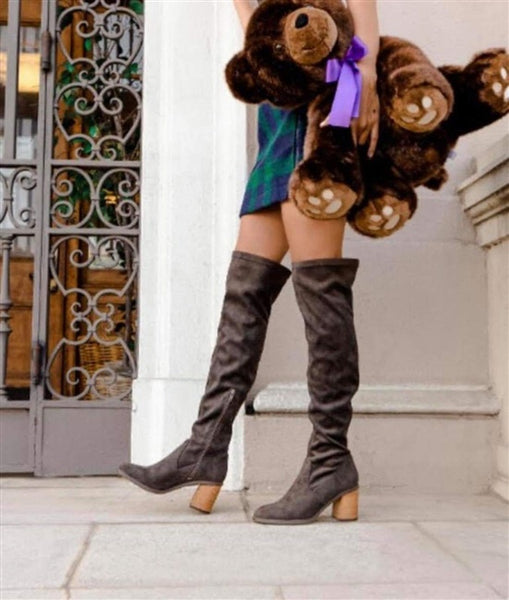 Kacey Over The Knee Suede Boot