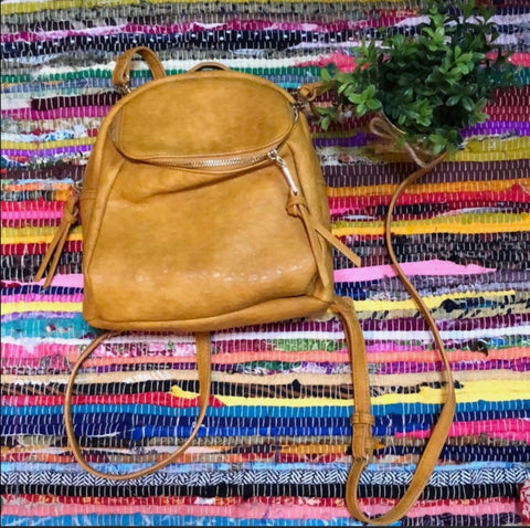 Vegan Mustard Backpack