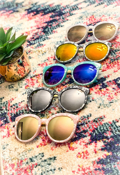 Pearly Frame Sunglasses