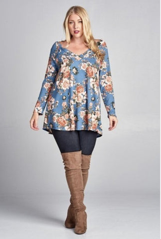 Floral Hacci Tunic Plus