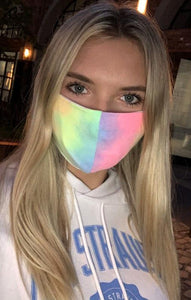 Bright Tie Dye Face Mask