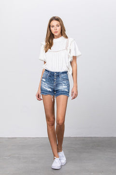 Lily Distressed Shorts