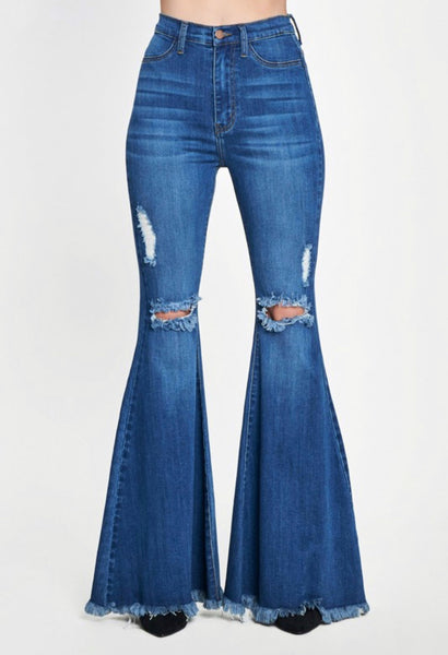 Plus Swept Away Flare Jeans