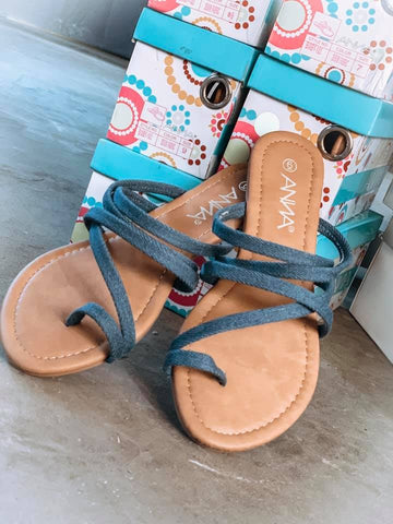 Denim Fabric Sandal