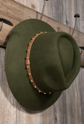 Wide Trim Stud Fedora