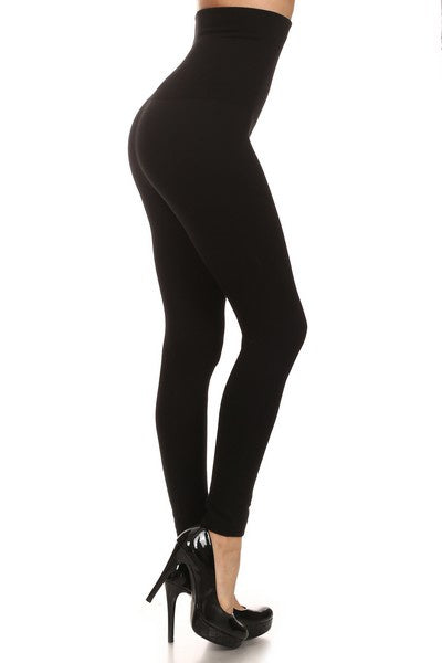 Black High Waist Compression Leggings