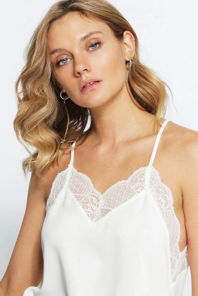 White Must Have Lace Cami