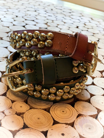 Cowboysbag Genuine Leather Gold Stud Belt