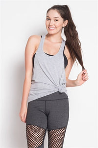 Heather Grey Twist Back Tank