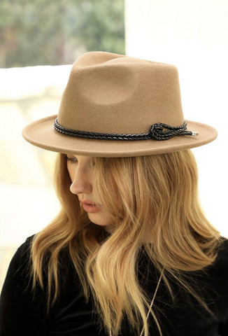 Wool Felt Braid Band Fedora