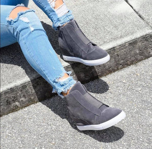 Tide Three Hidden Wedge Sneaker Grey
