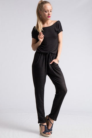 Low back Charcoal Jumpsuit