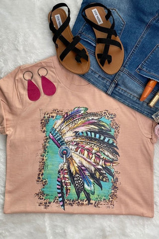 Western Indian Headdress Graphic Tee
