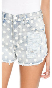Polka Dot Cutoffs