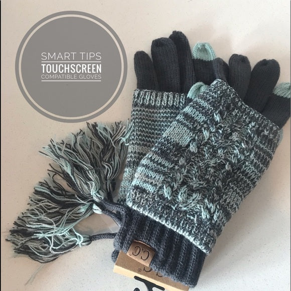 Smart Tip Cable Knit Gloves