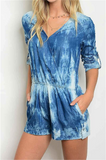 Shake the World Denim Romper