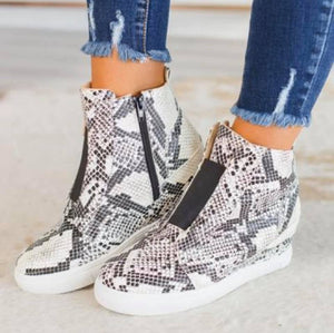Tide Three Hidden Wedge Sneaker Nude Combo