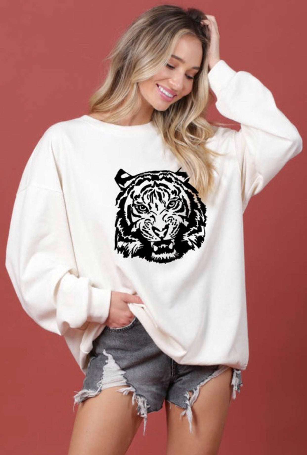 Easy Tiger Graphic Pullover
