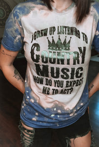 Raised On Country Music Graphic Tee