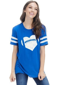Royal Blue Football Graphic Tee