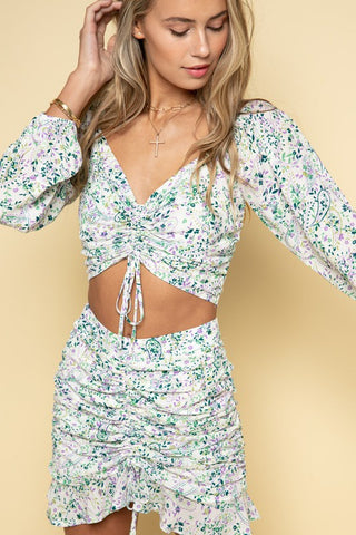 Sweetheart Floral Printed Matching Set