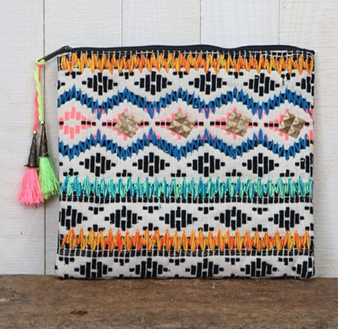 Multi Pattern Jacquard Clutch