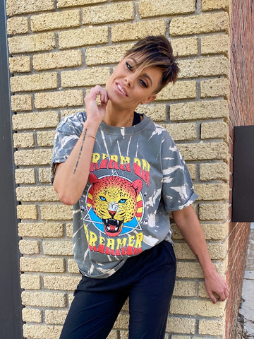 Dream on Dreamer Cheetah Graphic Tee