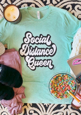 Social Distance Queen Graphic Tee