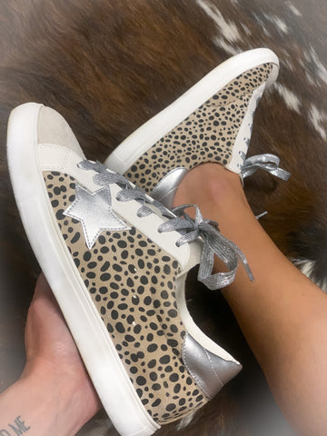 Animal Print Leopard Star Sneakers