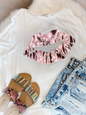 Foil Lips Graphic Tee
