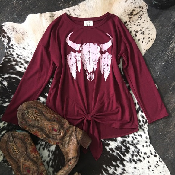 Vintage Longhorn Graphic Pullover