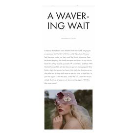 A WAVERING WAIT - LA BOTANICA MAGAZINE
