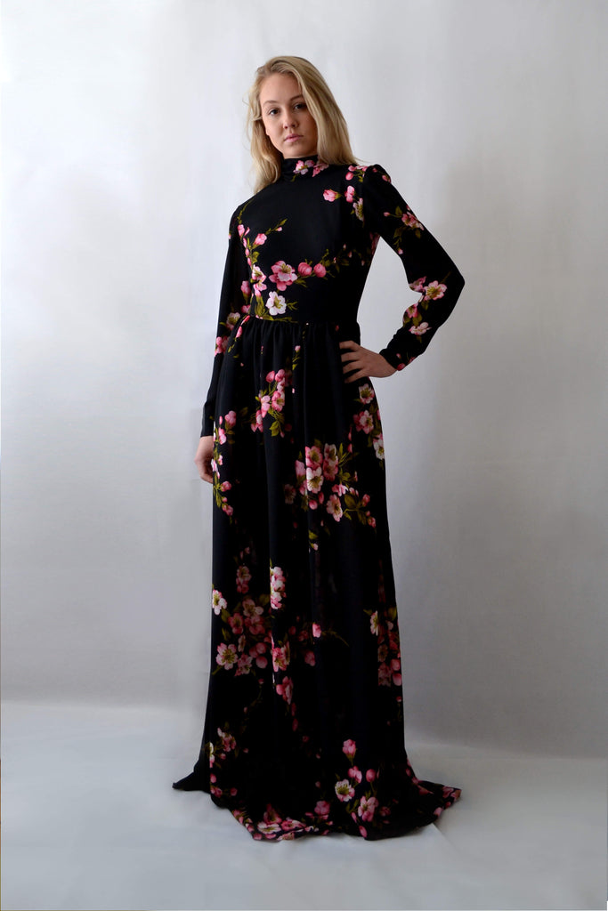 Night Blossom maxi dress
