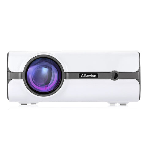 Alfawise A11 LCD 2000 Lumens Home Theater Mini Projector - White EU Plug ( Without OS )
