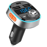 Alfawise PD3.0 Type-C Fast Charge FM Transmitter Car Charger With LED Display