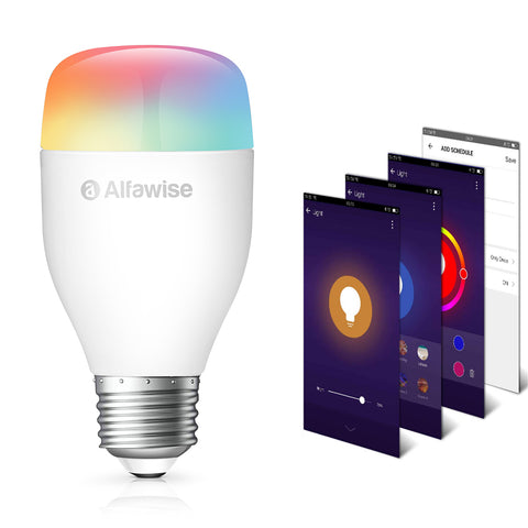 Alfawise LE12 E27 9W 900LM WiFi APP / Voice / Smart LED Bulb - Warm White