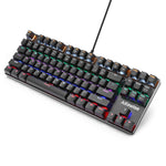 Alfawise K1 LED Backlit Mechanical Keyboard Blue Switch Gaming Keyboards-Aluminum Finish