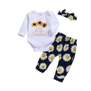 18d84c749 Sunflower Rompers | Sunflower Floral Rompers and Onesies for Your ...