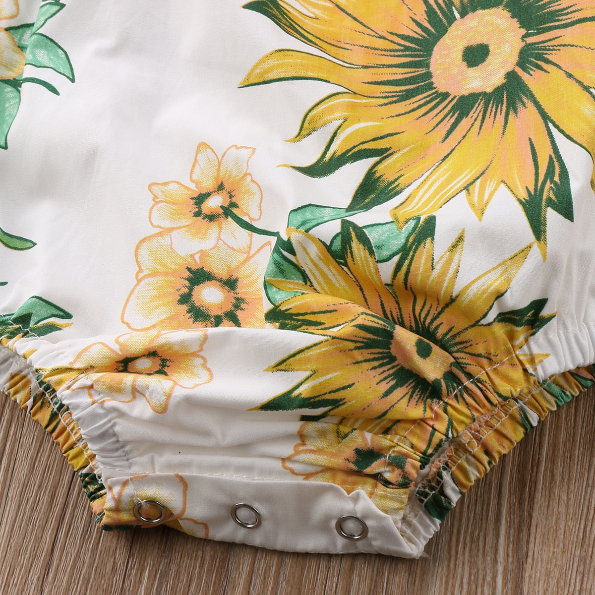 1fa6b4617 ... Load image into Gallery viewer, Newborn Baby Girl Halter Sunflower  Romper