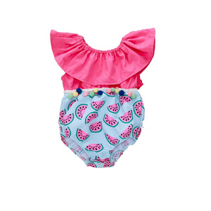 a3818925477e Patchwork Infant Baby Girl Watermelon Romper