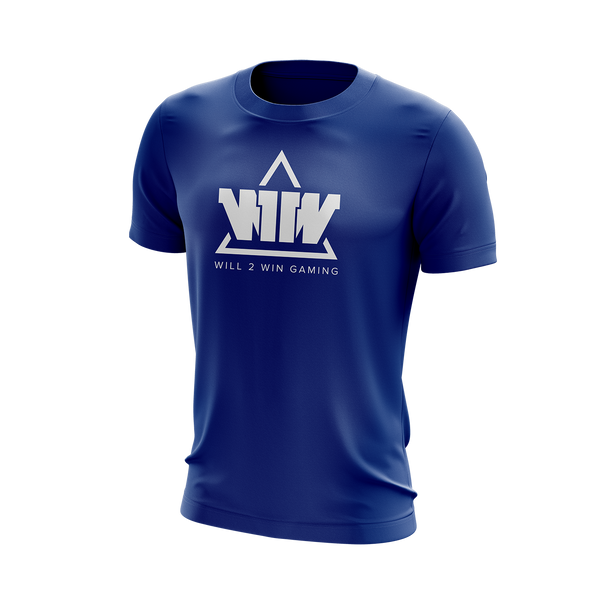 W2W T-Shirts Blue/White