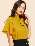 Ginger Blouse with Side Neck Tie