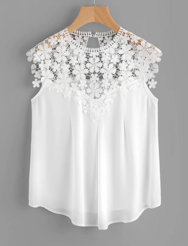 Laced Top Casual Wear Blouse