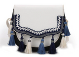 Tribal Purse with Tassel Flap Cover