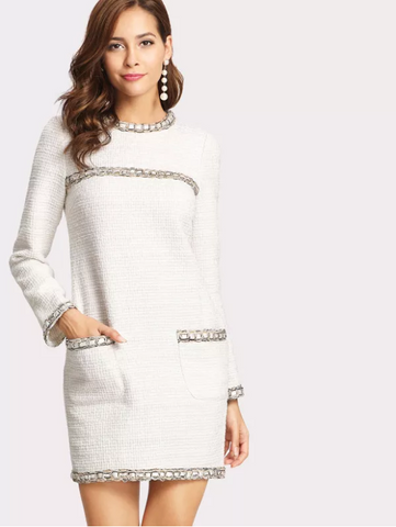 Work Dress White Corporate Dress A