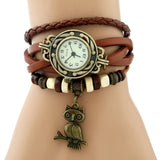 Women's Watch | Bronze Owl Charm Wristwatch