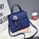 Fur Ball Decor Crossbody Handbag